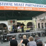 Scena muzyczna Festiwalu Miast Partnerskich w Bielsku-Białej 2010.