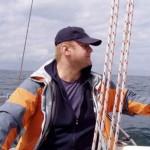 Na tym zdjęciu widać, że żeglujemy po wiekszej wodzie... :-)