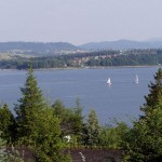 Główne rozlewisko jeziora Żywieckiego. Zaparło mi dech, kiedy zobaczyłem ten widok za dnia!