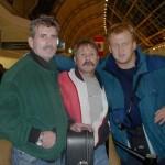 Joseph Lewandowski, Bob Sarna i ja - lotnisko w Toronto.