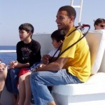 Hakeem Abdul. Szef bazy White Dolphin. Instruktor nurkowania. Fajny typ.