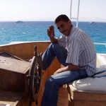 Skipper naszej łodzi. Nasser. Chyba?