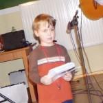 Antoś. Brat jaszcze mniejszego - Frania. Antoś bardzo dzielnie śpiewał i odważnie WYSTĘPOWAŁ!!!