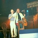 Mordy dwie robiąc na scenie SZO, bawią Publisię. ;-)