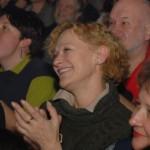 """Pani Edyta Geppert - Gość Honorowy koncertu.  Może oklaskuje mój występ?... :-)) W lewym górnym rogu - Maciek """"VIKING"""" Ślusarczyk."""