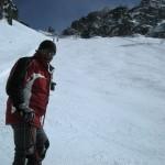 Nade mną lodowiec Presena. Za mną czarna, długa, trudna i wymagająca trasa PARADISO (Raj), którą pokonałem. Moje wielkie osobiste zwycięstwo w kategorii: narty 2008.