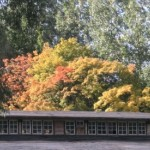 Barwy jesieni nad hangarem.