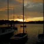 Zachód słońca tego dnia był baaardzo malowniczy...