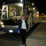 Kasia popóźnonocnym-wczesnorannym przylocie na lotnisko w Sharm.
