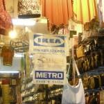 """Old Market w Sharm. Reklamy skierowane do określonego targetu. Napis oznacza: """"Jest pomysł, jest IKEA"""". Hasłem naganiaczy na target z Polski: """"Małysz, Kubica, Mucha .... karalucha!!!"""" Zdolny naród..."""