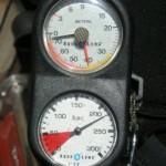 Wykon na głębokościomierzu. Instruktor pozwolił mi zejść na 40 metrów. Skorzystałem. :-))