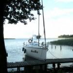 Nasz jacht, którym żeglowaliśmy:  Twister 800 N. Nazwa - zupełnie nieprzypadkowa. :-)))