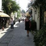 Kasia na uliczce w Aphytos.