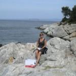 Piknik na skałkach w pobliżu Paliouri. A po lunchu - snorkeling przy skałkach w najlepszym towarzystwie!