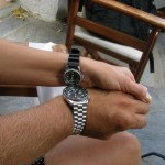 Dwa zaprzyjaźnione zegarki nurkowe. Właściciele też.  Oczywiście! Nawet dużo bardziej!