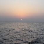 Zachód słońca nad morzem Czerwonym...