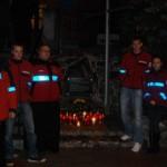 Ratownicy Mazurskiego WOPR z północnej stacji Harsz-Skłodowo na jeziorze Mamry.